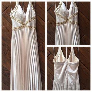 JS Boutique champagne halter dress size 4